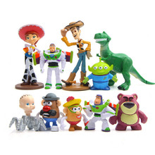 Hot 10pcs/lot Figure Toy Woody Buzz Lightyear Jessie Rex Lotso Mr Potato Head Little Green Men Spider Baby Toys Gift woody leonhard green home computing for dummies