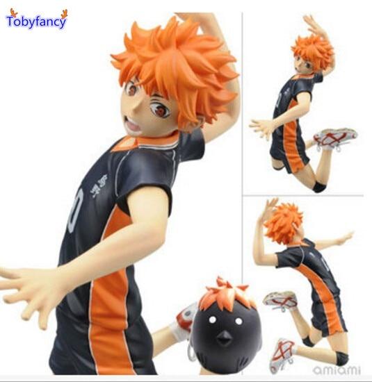 ФОТО Tobyfancy Haikyuu Action Figures Hinata Syouyou PVC 17CM Japanese Anime Volleyball Figures Toys Haikyuu