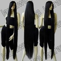 "FREE SHIPPING>****^^ Peluca perruque Cos 60"" Extra Long 150cm Black Straight Cosplay Wig queen women's Cosplay hair wigs"
