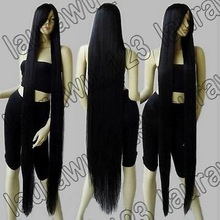 """FREE SHIPPING>****^^ Peluca perruque Cos 60"""" Extra Long 150cm Black Straight Cosplay Wig queen women's Cosplay hair wigs"""