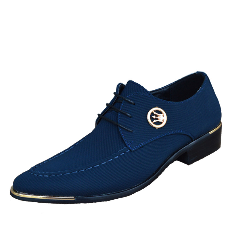 2016 Neue Mode Männer Kleid Schuhe Männer Oxfords Für Männer Leinwand Leder Schuhe Atmungsaktive Lace-up Männer Hochzeit Schuhe