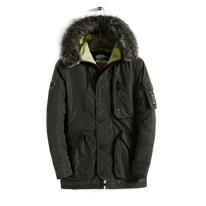 Thick clothes Fur Collar New Casual 2018 Brand Men Padded Winter   Parka   Brand Winter Polyester Coat