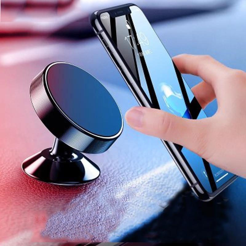 Car Phone Holder Universal 360 Degree Metal Bracket Car Magnetic Mobile Phone Holder Support Self-Priming Car Accessories