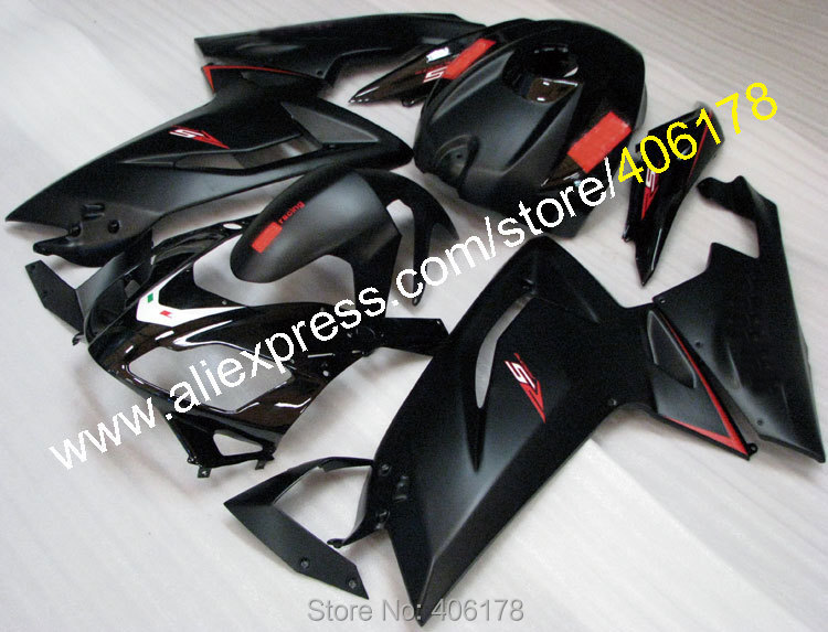 Hot Sales,Black RS125 For Aprilia RS125 2006-2011 RS125 RS 125 07 08 09 10 11 RS 125 Aftermarket Body Kit (Injection molding)