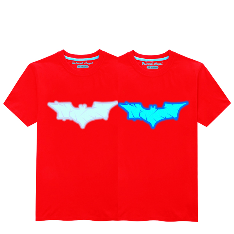 HTB1vyB0RVzqK1RjSZFCq6zbxVXaU - Luminous Short Sleeves T-Shirt For Boys T Shirt Spiderman Christmas Teen Girls Tops Size 3-15 years Teenage Toddler Boy Tshirts