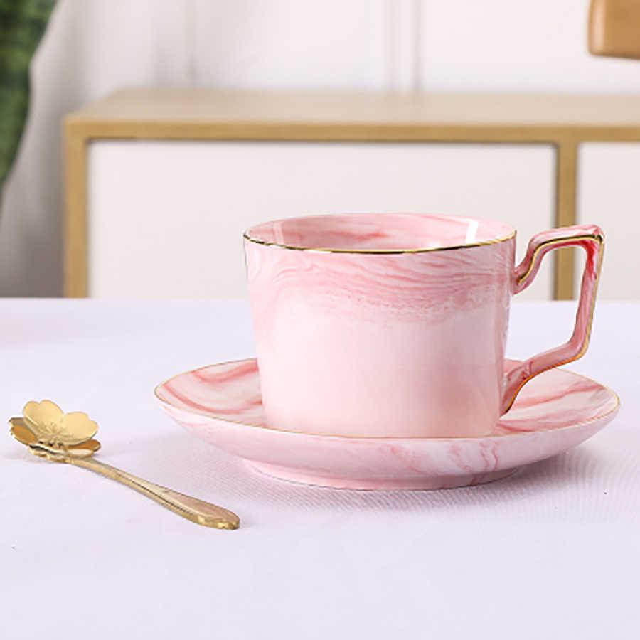 Mármore Cerâmica Conjunto Xícara de Café Reutilizáveis Xícaras de Cappuccino Chá preferia sempre o Kubek Louças Ambientalmente Amigável Casa 50T013
