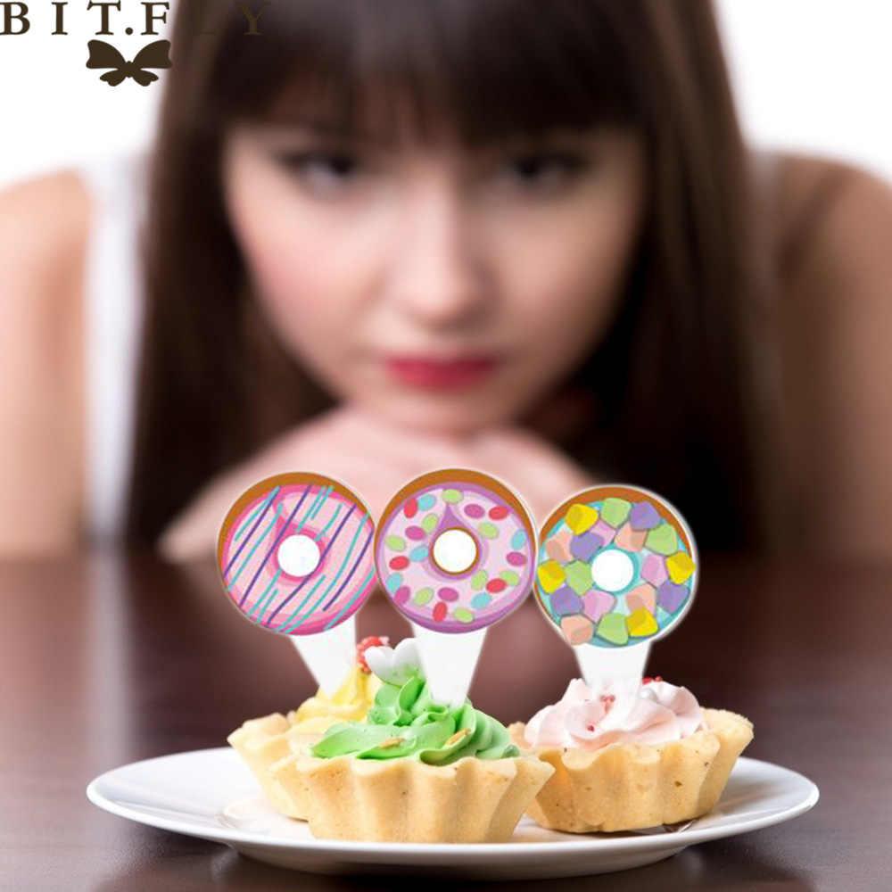 8 шт. мультфильм красочный пончик Единорог торт Топпер десерт из кекса украшения для DIY Baby Shower День рождения свадьбы партии питания
