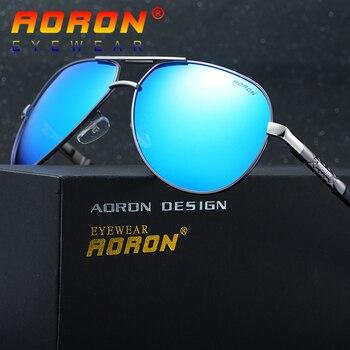 d90ee50858 Gafas de sol polarizadas de marca AORON para hombre, gafas de piloto, gafas  de