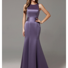 2019 Winter Purple Sation Long Formal Adult Women Bridesmaid Dresses