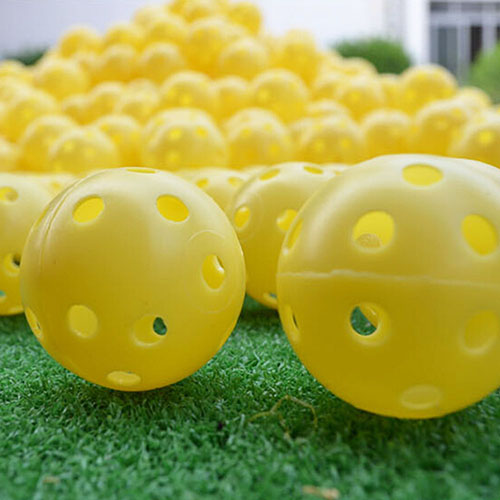 Image 5 - 6 Pcs Indoor Elastic Golf Hollow Ball Rubber Hole Golfs Beginner Practice Training Ball-in Golf Balls from Sports & Entertainment