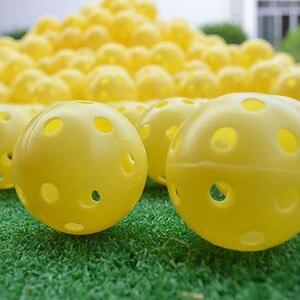 Image 5 - 6 adet kapalı elastik Golf içi boş top kauçuk delik Golf acemi uygulama eğitim topu