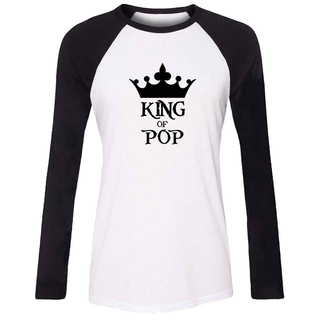The king of pop graffiti tattoo design t shirt women long sleeve graphic tee tops family vacation fans party tshirts in t shirts from womens clothing on
