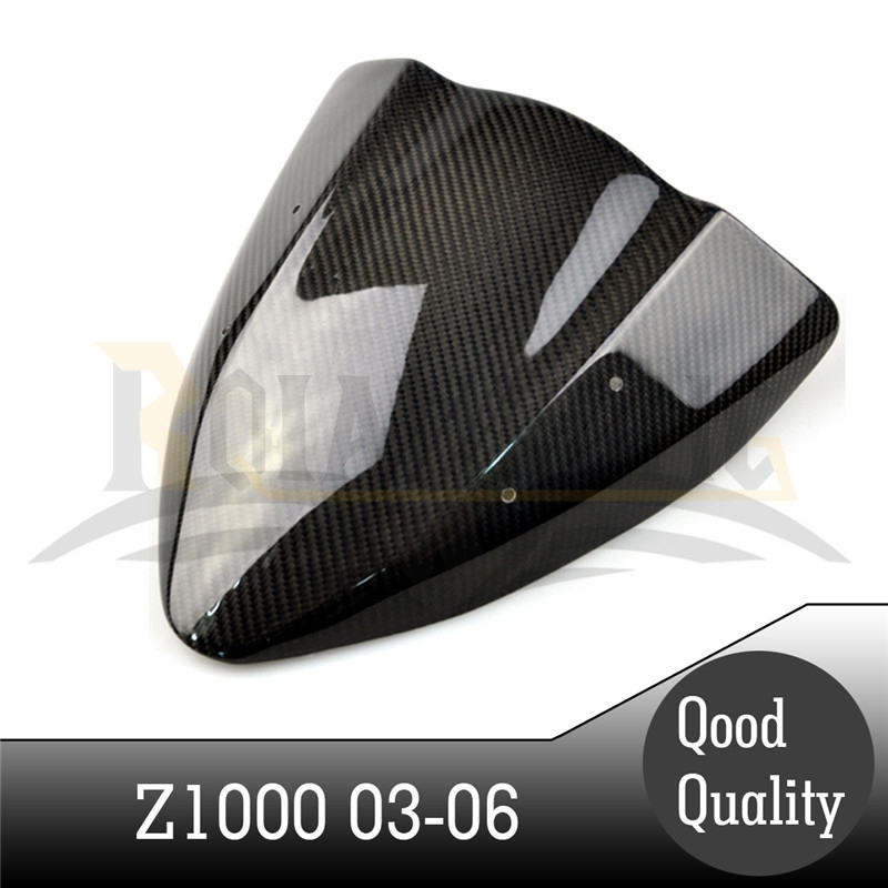new motorcycle accessories black color caron fiber fuel gas tank protector pad shield rear carbon fiber for KAWASAKI Z1000 03-06