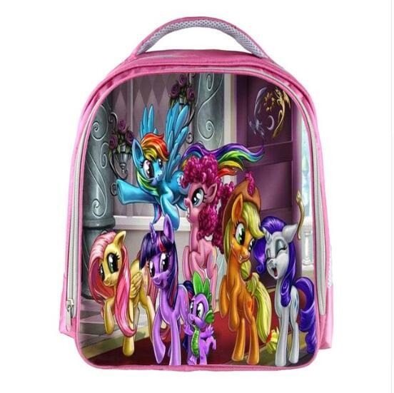 My Little Pony Girls Ransel Kartun Printing Rainbow Rocks Tas Sekolah Untuk Gadis Buku Anak Anak Hadiah Disesuaikan Nama Gratis Tas Sekolah Aliexpress