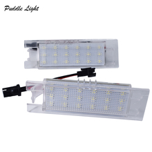 2x 18SMD for Opel Aauxhall Adam Insignia Corsa C D Zafira B Astra H Tigra B Vectra C Meriva LED License Plate Light Lamp styling 2x car 18 led license plate lights 12v white number plate lamp for opel astra g astra f corsa b zafira a vectra b for omega a