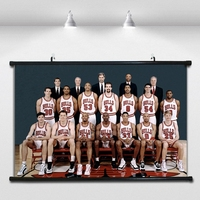 Old Bull team NBA Basketball Poster Wall paintings Wall Sticker Banners Hanging Waterproof Cloth Art Decor 40X60 CM