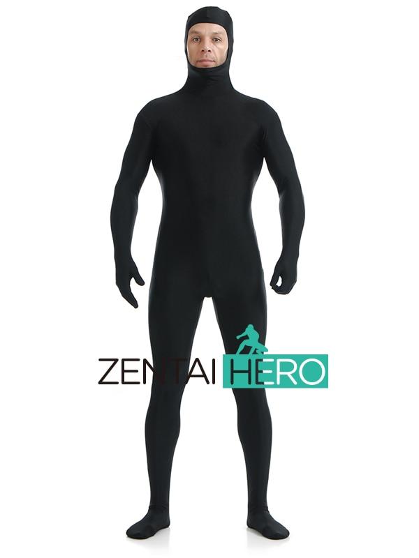 New Unisex Spandex Lycra Full Body Unicolor Zentai Suits Back Zipper Wholesale