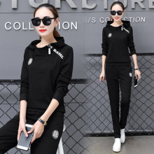 2019 Spring Women Sweatsuit 2 Two Piece Set Female Tracksuit Hoodies Top + Pants Suits Ladies 3xl letter Outfits Sporting Suit