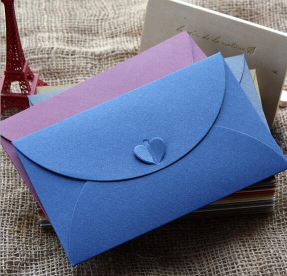 50pcs/lot Paper Envelope Colored Vintage European Style Envelopes Wedding Invitation Envelope Christmas Gift Packing