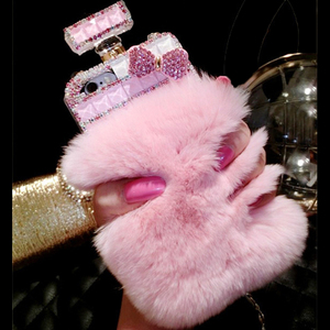 Image 1 - Fur Perfume Bottle Phone Case For iPhone 11 Pro 6 6s 7 8 Plus XS Max XR Samsung Galaxy S10 S20 Ultra S8 S9 Note 10