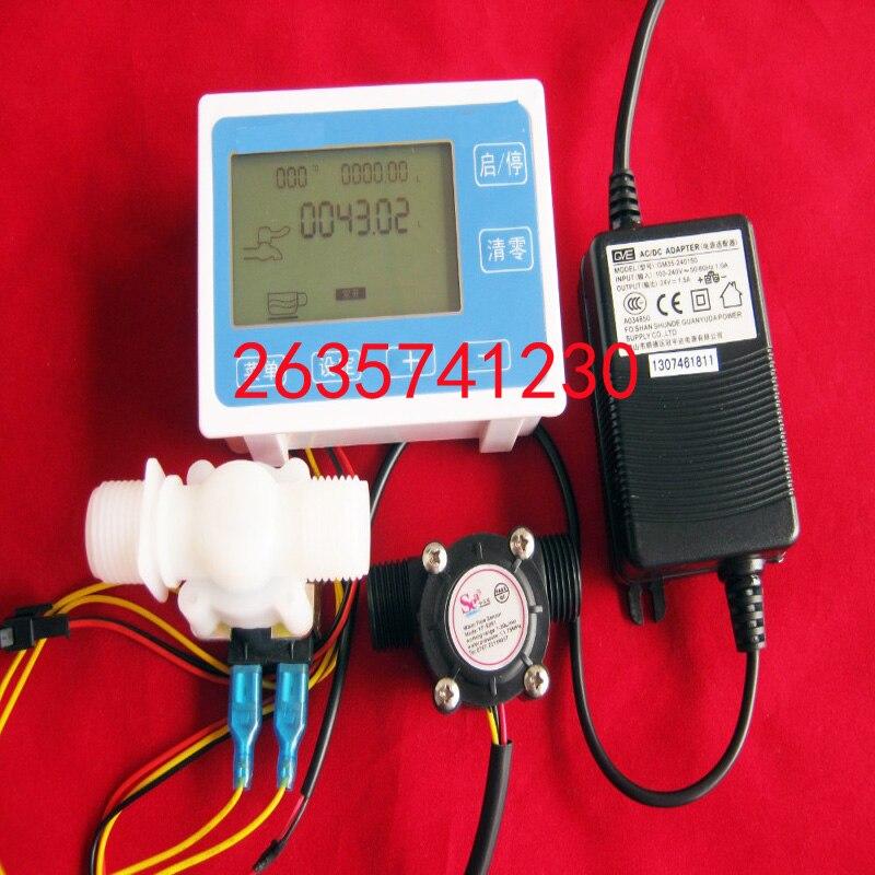 G1/2 Цифровой Расходомер количественного наполнения пресс управления Beverage Vending Заполнение Упаковочная Машина турбины расходомер