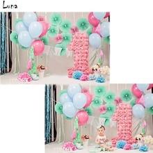 Fotografia Vinil pano de Fundo Para A Festa de Aniversário balão Oxford Pano de Fundo Para Recém-nascidos photo studio Props F2751