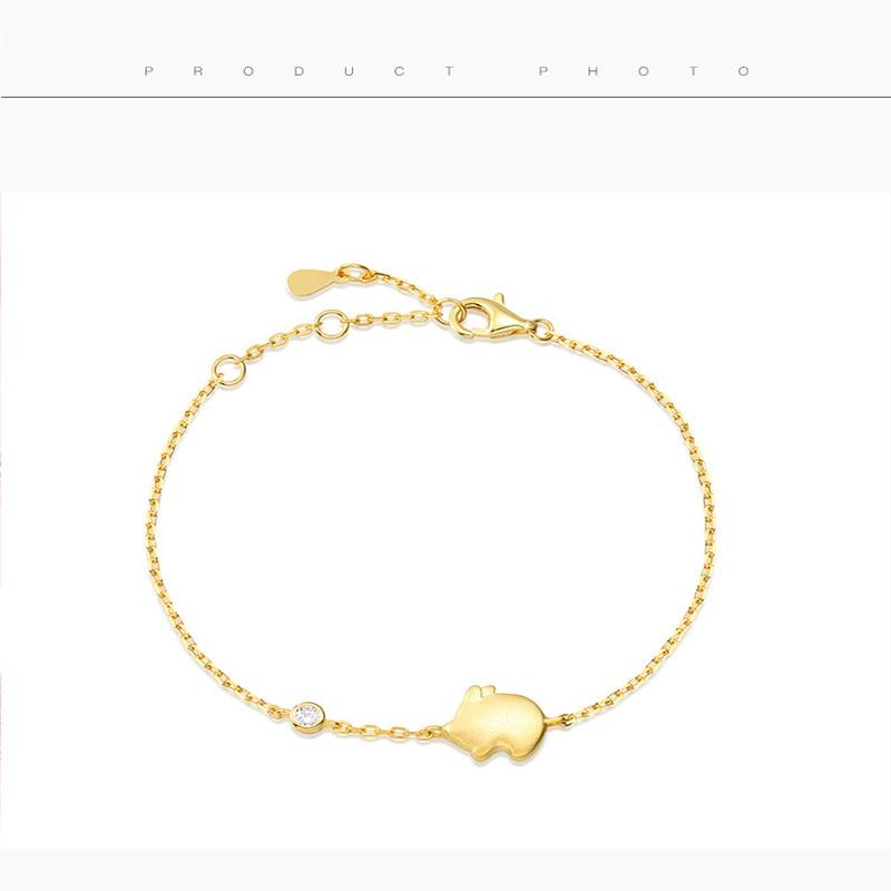 Qevila Anklet Hot Fashion Lovely Flying Pig Ankle bracelets 925 Sterling Silver Gold Leg foot Jewelry for Women Unique Gift Boho (5)