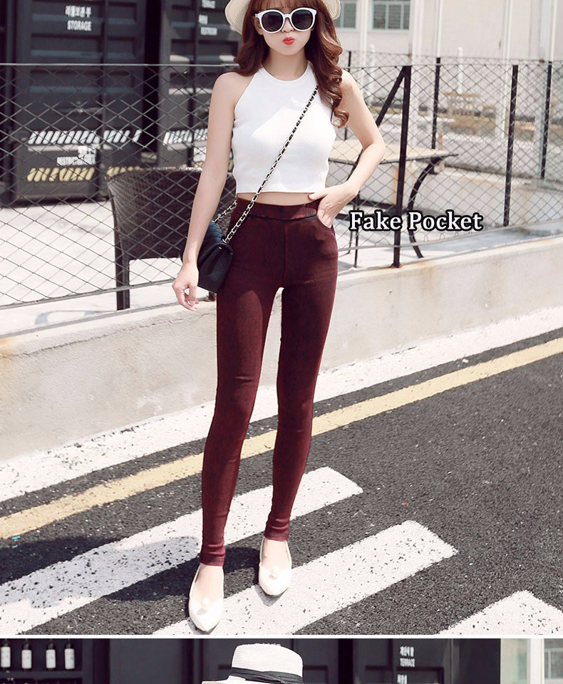 BIVIGAOS Fashion Women Casual Slim Stretch Denim Jeans Leggings Jeggings Pencil Pants Thin Skinny Leggings Jeans Womens Clothing 11