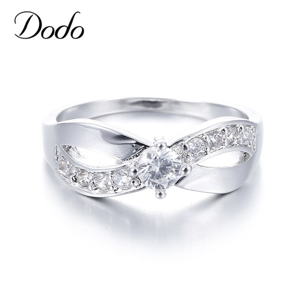 fashion infinity rings white gold plated jewelry for women cz diamond wedding engagement bijoux. Black Bedroom Furniture Sets. Home Design Ideas