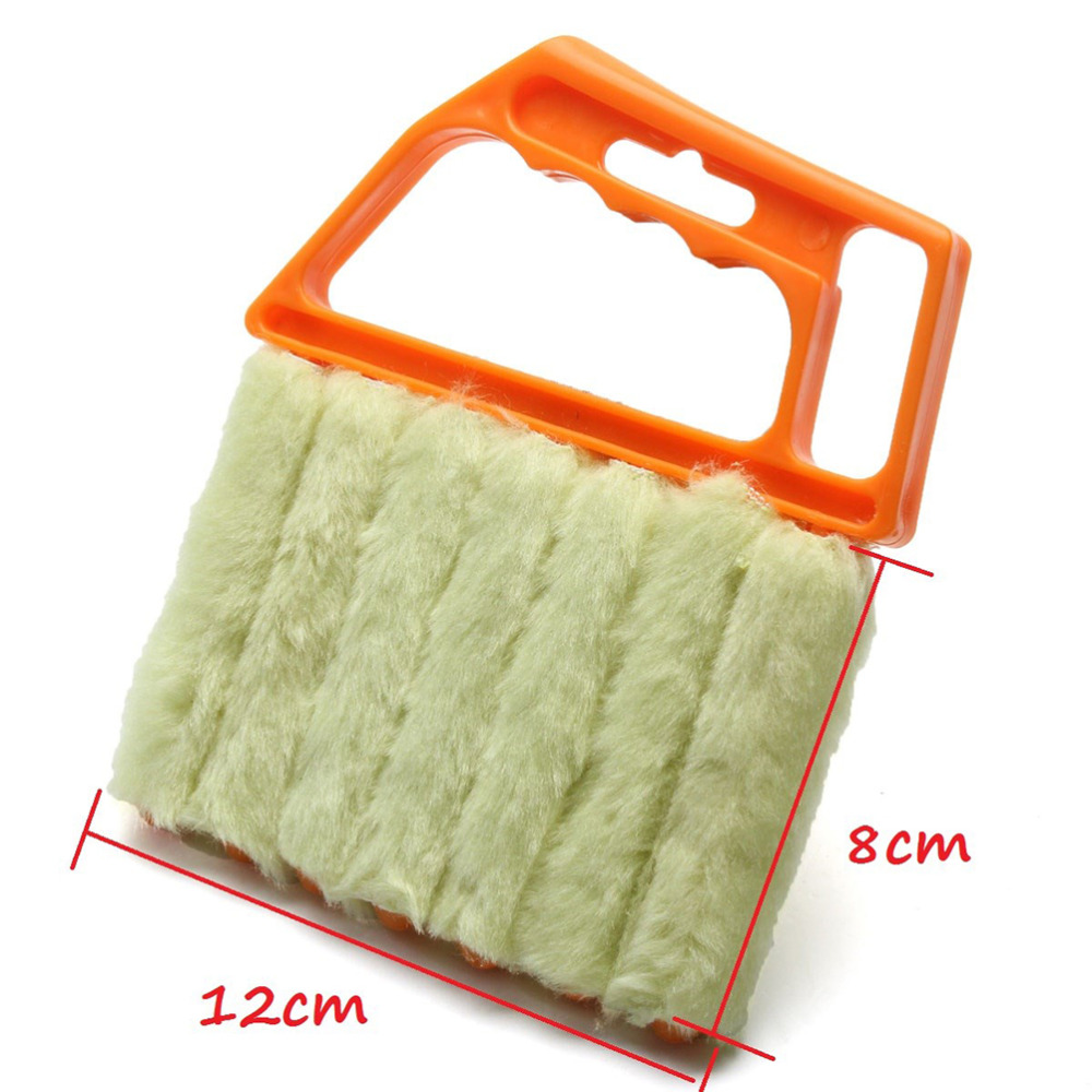 1pcs Mini Dust Cleaning Brush 7 Hands Held Blind Cleaner Microfibre Venetian Blind Brush Window Air Conditioner Duster Cleaner