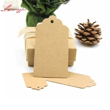 50PCS/Lot 3 Sizes Kraft Paper Tags Paper Labels Card Tag For  Christmas/Wedding /Party Favors Scrapbooking DIY Kraft Gift Tags