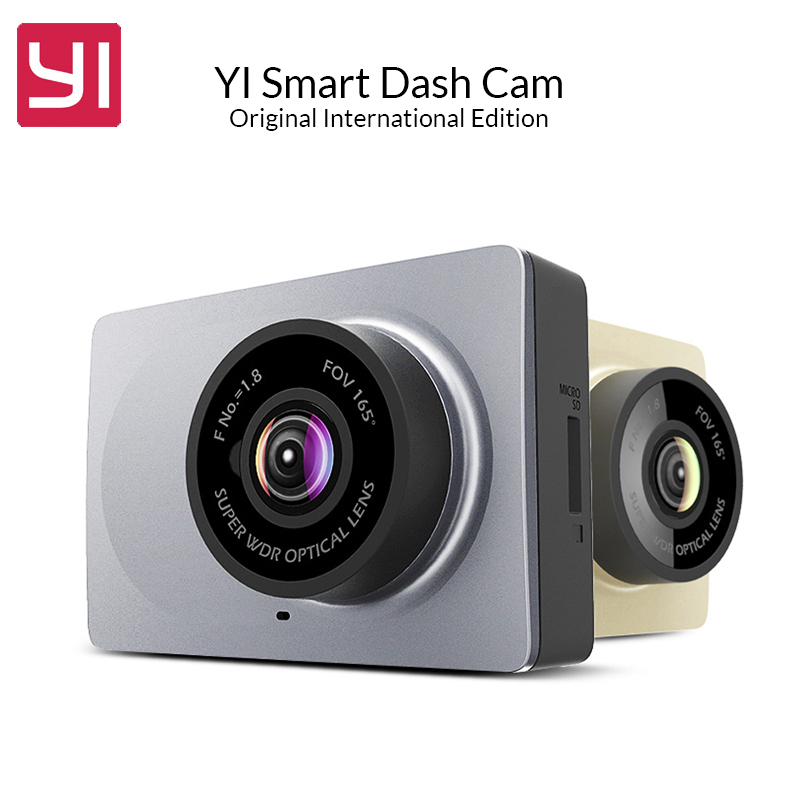 Original International Edition YI Smart Car DVR WiFi  Dash Camera 165 Degree ADAS Dash Cam 1080P 60fps Car Camera Registrator