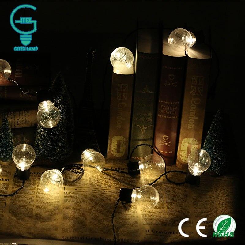 Gitex 20 LED Globe Festoon Party Ball String Light  Connectable Christmas Fairy Lights for  Garden Pendant Garland