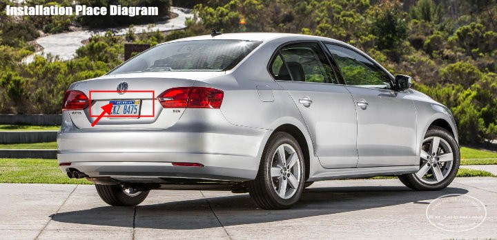 Volkswagen VW Jetta A6 1B MK6-back-license-plate-lamp