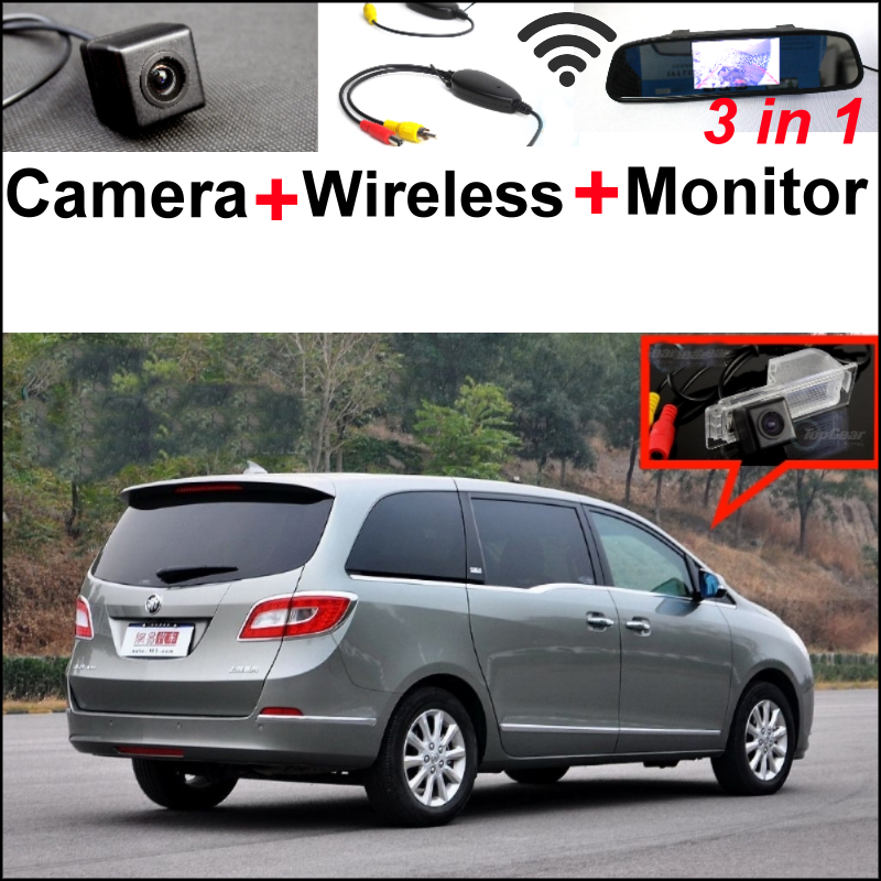 3in1 Special WiFi Rear Camera + Wireless Receiver + Mirror Monitor Parking BackUp System For Buick GL8 2011~2014 wireless pager system 433 92mhz wireless restaurant table buzzer with monitor and watch receiver 3 display 42 call button