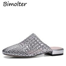 Bimolter Women Slides Fashion Slippers Sandals Soft Soles Home Bathroom Slippers Beach Hollow Shoes Woman Outside Flat NC034 стоимость