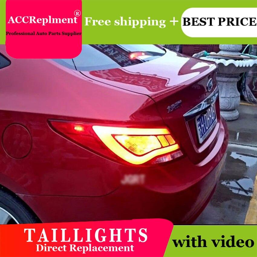 2 pièces style de voiture pour Hyundai Accent feux arrière 2011-2014 pour Accent feu arrière LED + clignotant + frein + lumière LED arrière