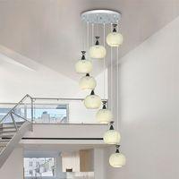 Лестница Вилла Дуплекс лестница лампа подвесной светильник современный простой Ресторан ZL527