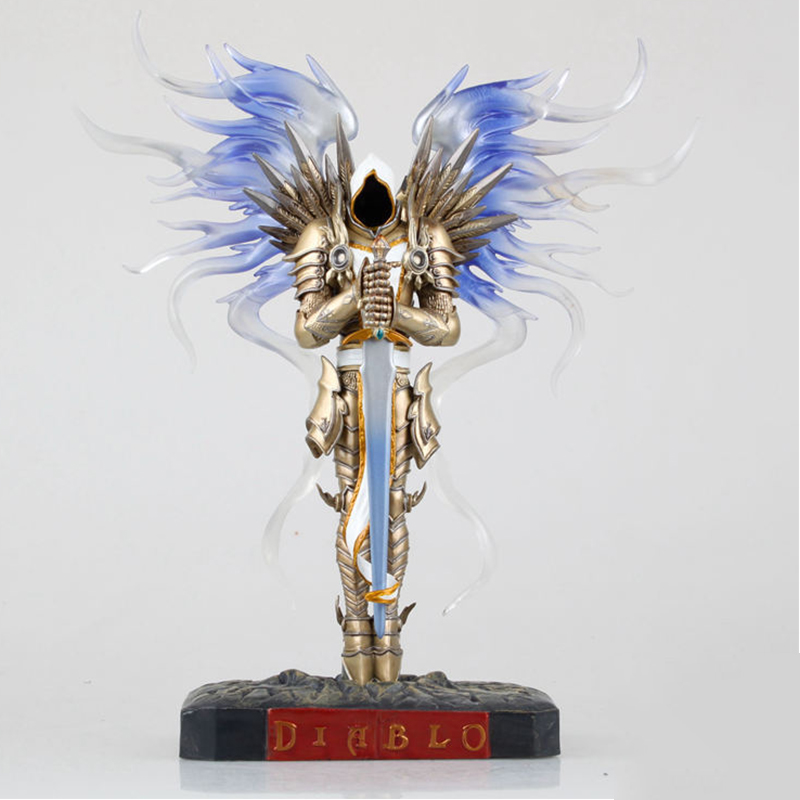 Game WOW Dark Seraphim Tyrael Archangel 28cm PVC Action Figure Toys Gifts Model Collections Free Shipping 1