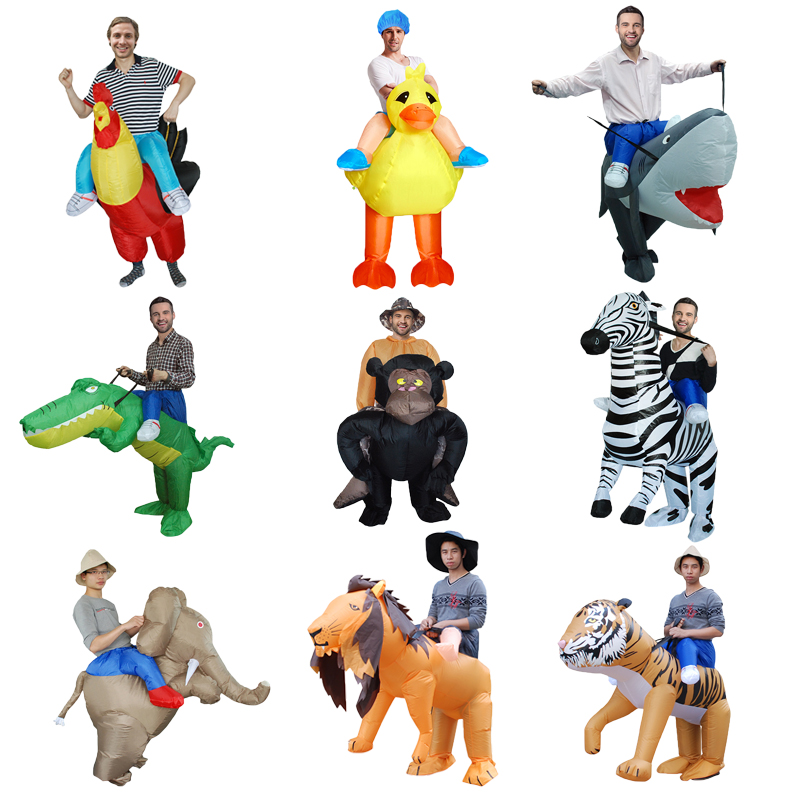 Funny Inflatable Costumes For Adults Holiday Carnival Costume Women Funny Party Dress Animal Cosply Halloween Costume for Man