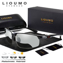 LIOUMO Photochromic Sunglasses Men Polarized Chameleon Glasses Male Change Color Sun Glasses HD Day Night Vision Driving Eyewear цена и фото