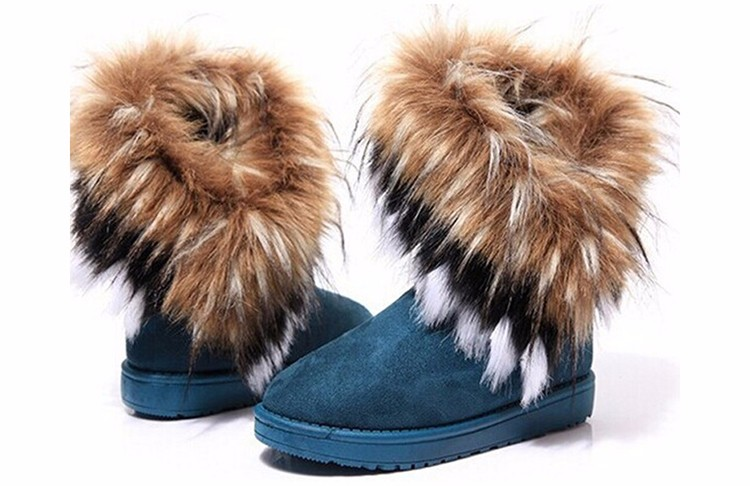 2016 New Fashion Women Snow Boots Round Toe Solid Fur Warm Woman Boots Comfortable Wild Casual Women Shoes Free Shipping ST910 (4)