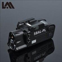 Linterna táctica con acabado CNC para arma de SBAL PL, Combo de pistola láser roja, Rifle constante y luz estroboscópica CZ 75