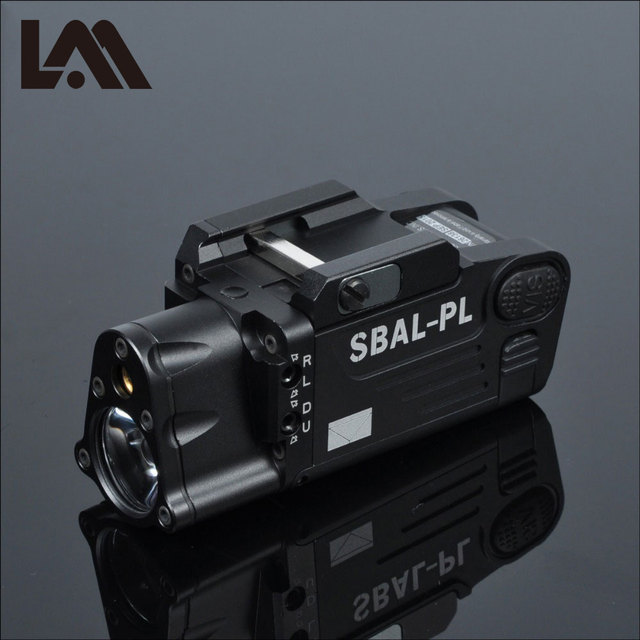 Tactical CNC Finished SBAL PL Weapon light Flashlight Combo Red Laser Pistol Rifle Constant & Strobe Gun Light CZ 75