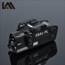 Taktik CNC bitmiş SBAL PL silah ışık el feneri Combo kırmızı lazer tabanca tüfek sabit ve flaş silah ışık CZ 75