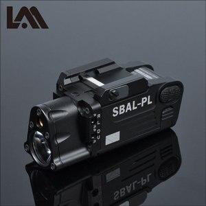 Image 1 - Taktik CNC bitmiş SBAL PL silah ışık el feneri Combo kırmızı lazer tabanca tüfek sabit ve flaş silah ışık CZ 75