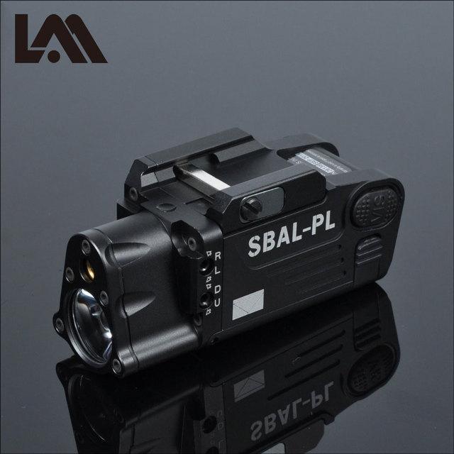 Taktyczne CNC wykończone SBAL PL broń światło latarka Combo czerwony Laser pistolet karabin stały i stroboskopowy światło CZ 75