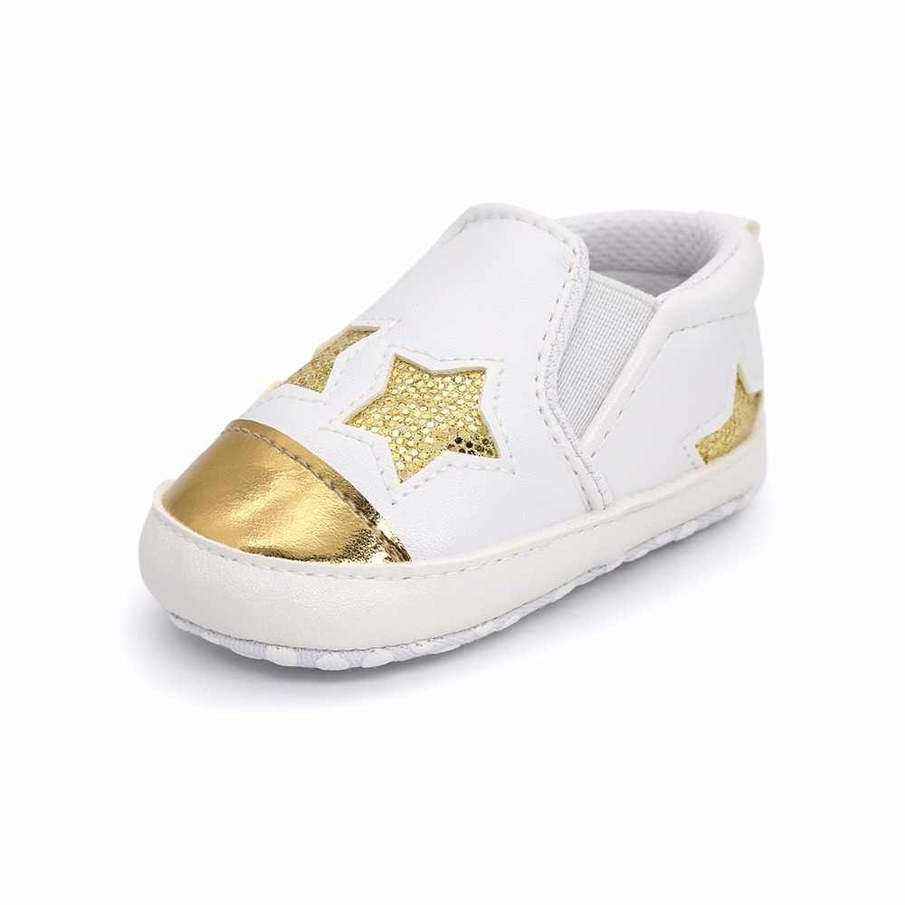 ... New Fashion Star Baby shoes Newborn Boys Girls First Walkers Infant  Toddler Soft Bottom Anti- ... 7678ffbb51ae
