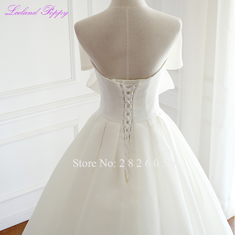 Women's A-line Princess Organza Wedding Dresses 2019 Floor Length Sleeveless Vestido de Novia Bridal Gowns with Bow Knot