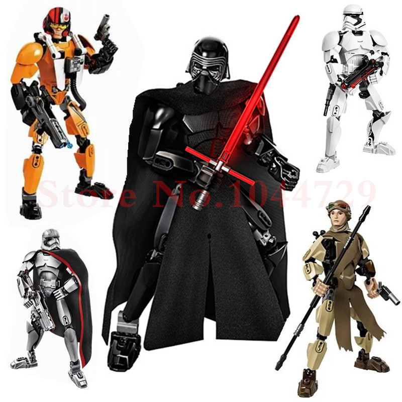 ksz 606 star wars minifigures phasma poe dameron darth vader general grievous clone cody figure toy building blocks ksz 605